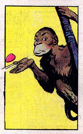 KTB 040051 monkey blows kiss 150